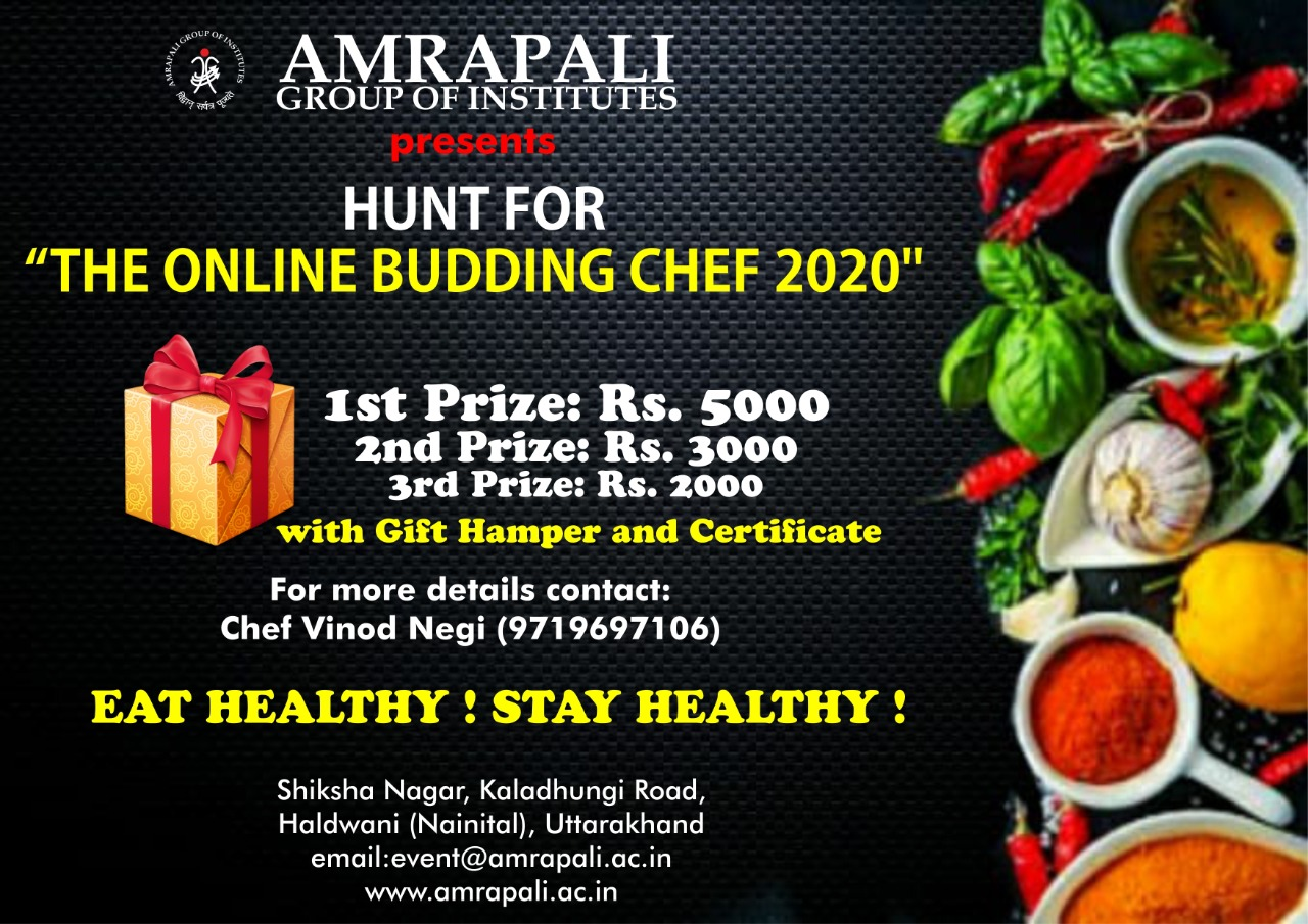 Hunt for - The Online Budding Chef 2020